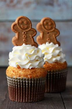 Gingerbread Latte Cupcakes_Bakers Royale: Gingerbread Milk, Gingerbread Cupcakes, Cupcake Recipe, Food, Cream Cheese, Cupcakes Recipe, Cup Cake, Latte Cupcakes, Dessert