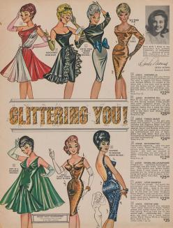 Glittering You! by What Makes The Pie Shops Tick?, via Flickr (1964 Fredericks's of Hollywood catalog): Frederick'S Of Hollywood, Fashion Style, Fredericks Of Hollywood, 1960S, Fredricks Of Hollywood, Black Vintage, Dress Vintage 1964Year, 1964 Fr