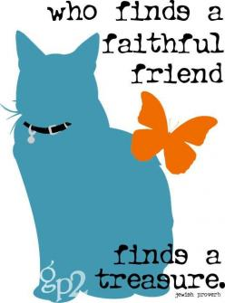 """GoingPlaces2  --  in Seattle, Washington    ---    This cheerful and bright cat art tastefully demonstrates what a unique treasure this independent companion can be! An extremely detailed colored silhouette is accompanied by a Jewish proverb that reads, """""""