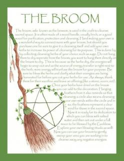Good information about one our powerful tools the Broom!!: Pagan Wiccan, Wicca Craft, Forest, Witch Broom, Wiccan Crafts, Witches Broom, Witchy Stuff