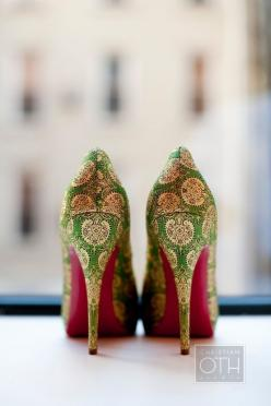 Gorgeous: Fashion, Elegant Green, Inspiration, Style, Wedding Shoes, Green Heels, High Heels, Christian Louboutin, Indian Wedding