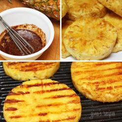 Grilled pineapple with honey, lime juice and cinnamon.: Grilled Summer, Recipe, Sweet, Lime Juice, Summer Desert, Grilled Pineapple
