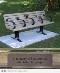 HAHAHA: Bench, Leonard Ball, Fatpeople, Funny Stuff, Funnies, Humor, Hated Fat, Fat People