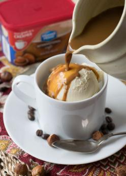 Hazelnut Affogato - A fantastic and creamy Italian-inspired dessert made by pouring hot espresso over vanilla ice cream.: Coffee Shop Idea, Italian Food, Vanilla Ice Cream, Coffee Idea, Hazelnut Affogato, Italian Coffee Shop