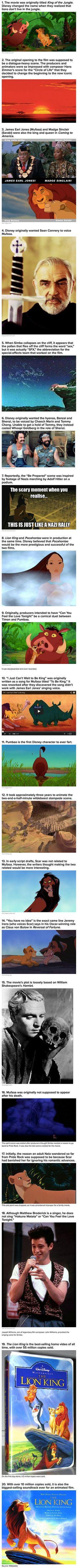 Here are some interesting things that you may not know about The Lion King.