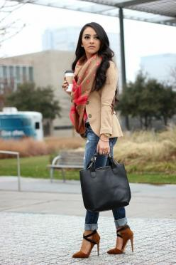 I can't wait for winter dressing - Distressed Chic: Jacket, Fashionista, Fashion Style, Dress, Outfit, Scarfs, Heels, Women, Fall Winter