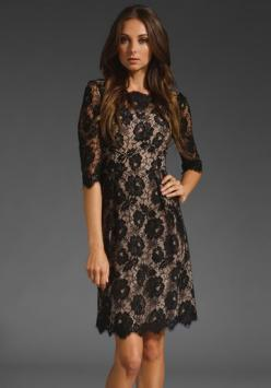 I love how modest this is!! I love lace. And it looks like a shorter version of the Kate Middleton dress....not that I stalk the princess or anything.: Fashion, 3 4 Sleeve, Style, Black Laces, Little Black Dresses, Black Lace Dresses, Beauty, Sleeve Dress