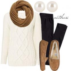 I need to get me nice classic white/cream sweater to wear. I love the design in this one.: Ugg Boots, Outfit Idea, Dream Closet, Fall Outfits, Winter Outfits, Cozy Outfit, Pretty Outfit, Fall Winter