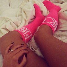 if i had these I would rock these around the house:) #pink #vs