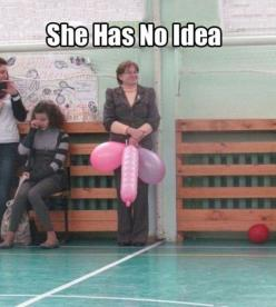 Ignorance is not bliss in this woman's case, but it is bliss and a source of amusement for us!: Giggle, Idea, Funny Picture, Funny Stuff, Funnies, Humor, Balloon, Funnystuff