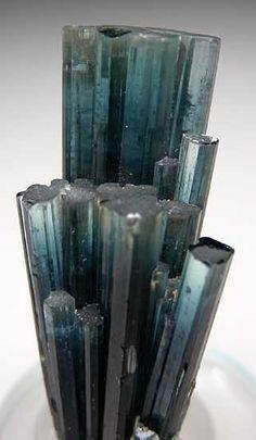 Indicolite from Brazil.       From Gem Stone List: Crystals Minerals Gemstones, Minerals Crystals Gems, Crystals Stones Gems, Colorful Gemstones, Gems Jewels Crystals, Gems Crystals, Crystals Rocks, Gemstones Minerals Crystals