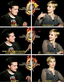 jennifer lawrence and josh hutcherson: Jennifer Lawerence, Joshifer Everlark, Badass Jlaw, Jennifer Lawrence Josh, Hungergames, People, 10000 Laughs, Jlaw Jhutch