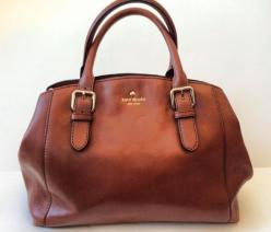 Kate Spade: Kate Spade Bag, Classic Leather Bag, Brown Leather Handbag, Kate Spade Purse, Kate Spade Handbag, Bags