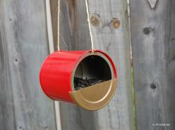 KISS DIY birdfeeder: Birdhouses, Bird Crafts, Diy Bird Feeders, Craft Singlez, Blue House, Diy Birdfeeder, Clever Crafts, Bird Houses