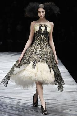 ~ Living a Beautiful Life ~ Alexander McQueen: Alexander Mcqueen, Peacock Dress, Fashion, Style, Fall 2008, Alexandermcqueen, Dresses, Wedding Dress, Haute Couture