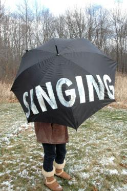 LOVE this umbrella. Singing in the rain! Just singing in the rain! what a glorious feelin....!!! yay!: Picture, Umbrellas, Stuff, Gift Ideas, Singing Umbrella, Craft Ideas, Painting