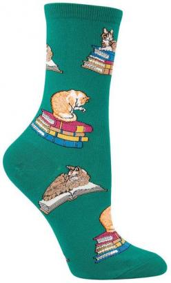 Meow! Wear these cats on books socks to that cat cafe that just opened in your town! Fits a women's shoe size 5-10.: Cats, Gift, Fun Cat, Animal Socks, Cat Animal, Book Socks, Books Socks, Bookish Sock, Products