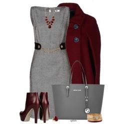 Milly Dress 2, created by angkclaxton on Polyvore: Workplace Fashion Business, Style, Fashionista Trends, Work Outfits, Business Casual, Burgandy Dress Outfit