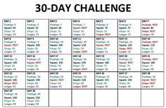 Monthly exercise workout plan #getfitandhealthy plus thirty minutes of cardio each day. Doing this!