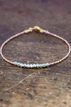 Nugget bracelet - pure silver on rose gold vermeil: Pure Silver, Nugget Bracelet, Silver Bracelets, Roses, Bangles Bracelets, Rose Gold Bracelets, Gold Vermeil