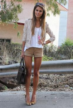 ok.. i really don't like anything about this outfit except that her legs will make anything look good. case in point.: Fashion, Style, Dream Closet, Clothes, Cute Outfits, Spring Summer, Summer Outfits, Lace Blazer, Lace Jacket