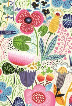 orange you lucky!: summer's garden . . .: Helendardik, Summer S Garden, Illustration, Summers Garden, Gardens, Dardik Botanicals, Helen Dardik