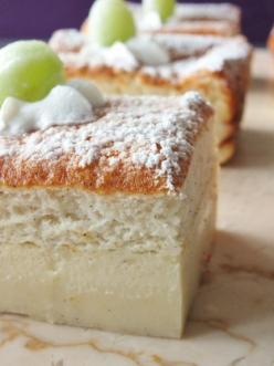 Pastel Inteligente (The Smart Cake) by davebakes: Made with one batter that separates into three separate and distinct layers while baking. Easy and impressive. #Cake #Smart_Cake: Smart Cake, Easy Impressive Dessert, Cakes, Recipes Cake, Three Layer Cake,