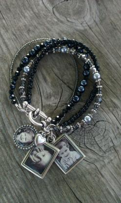Photo Charm Bracelet Black or Brown Beaded Photo by GinasPhotoGems, $59.00 https://www.etsy.com/listing/83159665/photo-charm-bracelet-black-or-brown: Additional Photo, Charm Bracelets, Beaded Photo, Gift Ideas, Photo Jewelry, Picture Charm
