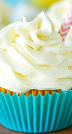 Pineapple Cupcakes Recipe ~ filled with fresh pineapple curd and frosted with tart pineapple frosting