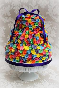 ruffled cake. Reminds me of the balloon bows: Color, Food, Cakes Cupcakes, Cupcakes Camberley, Balloon, Photo, Ruffled Cake, Coco S Cupcakes, Rainbow