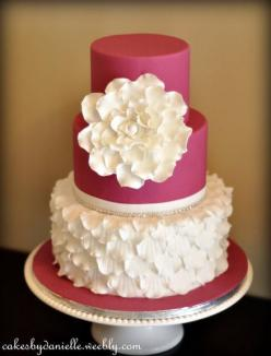 Ruffles of Petals Cake: Petal Cake, Shower Cake, Cake Ideas, Ruffle Cake, Wedding Cake, Beautiful Cakes, Friendly Competition, Ruffles