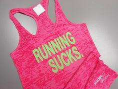 RUNNING tank top. RunningSucks. I Hate by StrongGirlClothing, $21.99