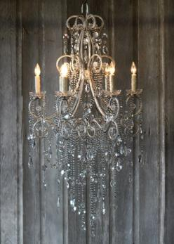 Rustin Elegance, just like our wedding theme!  If I didn't love our ceiling fans so much (for the nice breeze) I would totally get one of these...: Beautiful Chandelier, Decor, Crystal Chandeliers, Ideas, Chandelier S, Lighting, Ceiling Fans, Mirabell
