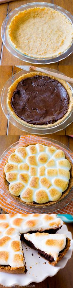 S'mores Brownie PieJust so you know....I'm bustin' the butt here today getting some yummy food ready for your 4th of July party Saturday. I can't wait. Maddie and McKenna are going to have some fun with some festive dessert that we will make F