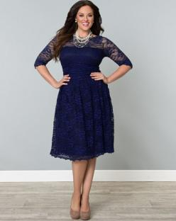 Scalloped Luna Lace Dress in Sapphire Top Plus Size Womens Clothing at www.curvaliciousclothes.com: Plussize, Size Dresses, Style, Scalloped Luna, Size Fashion, Luna Lace, Plus Size Clothing, Lace Dresses