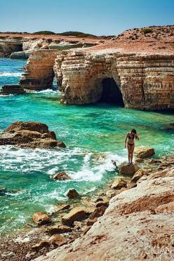 Sea Caves in Paphos Cyprus: Travel Places, Seacavesin Paphoscyprus Travel, Cyprus Island, Sea Caves, Beautiful Beach, Travel Beach