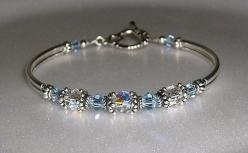 Something Blue?  Or perhaps a gift for your girls.: Gift, Craft, Jewelry Making, Bracelets, Wedding Bracelet, Something Blue