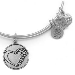 This Alex and Ani Whole Heart is on my list of new bangles to get..... American Heart Association Bangle Russian Silver: Alex And Ani Silver, Association Bangle, Alex And Ani Bracelets Mom, Alex Ani, American Heart Association, Alexandani, Alex And Ani Br