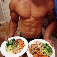 This food + time + weight training = that body.