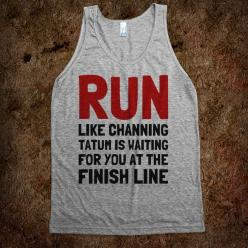 This might get me to enjoy running if it said Ryan Gosling...: Fashion, Style, Fitness, Clothes, Funny, Things, Tshirt, T Shirts, Tank