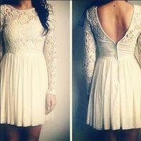 This white lace longsleeve dress