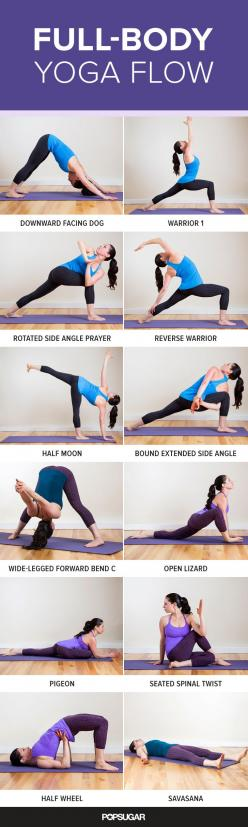 This yoga flow works your muscles while lengthening them to help you get long and lean.: Yoga Exercise, Everyday Workout, Yoga Flow, Yoga Sequence, Yoga Posture, Full Body Stretch, Full Body Workout, Yoga Workout, Lean Workout