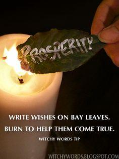 Tip: Bay Leaves for Wishes and a history of the herb #wicca #herbs