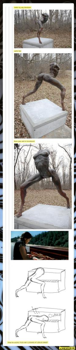 To be honest, I think this is the best Tumblr post.: Singing Sculpture, Statue, Funny Pictures, I M Laughing, Tumblr Funny, Funny Stuff, Tumblr Posts, So Funny