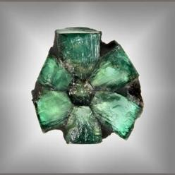 "Trapiche emeralds are in a class by themselves & are perhaps the rarest & most memorable of ""pattern"" gems, certainly the most unusual amongst the big three of emerald, ruby & sapphire. Trapiche is the Spanish word for a spoked wheel u"