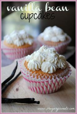Vanilla Bean Cupcakes with Vanilla Bean Butter Cream Frosting.  Blogger promises these are the best vanilla cupcakes ever.  The rich vanilla flavor is just over the top delicious: Cup Cakes, Vanilla Cupcakes, Cupcake Recipes, Beans, Vanilla Bean Cupcakes,