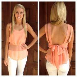 Well this is just plain adorable: Blouse, Style, Sheer Tank, Spring Summer, Outfit, Bow Tops, Fashion Bows, Summer Tops