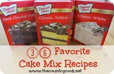 36 **FAVORITE** Cake Mix Recipes
