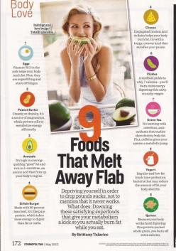 "9 foods that melt away fat (if you don't like pickles, raw celery also burns calories as it digests, it has ""negative calories"". also make sure you get organic celery, conventional celery is high in toxic pesticides, and a toxic body doesn&#39"