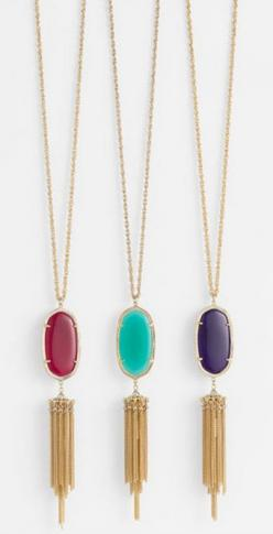 Add a pop of color with these gorgeous pendant necklaces: Kendrascott, Kendra Scott Necklace, Long Pendant Necklace
